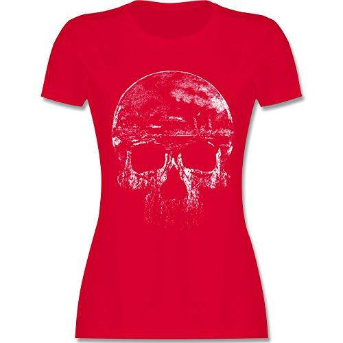 Biker - Vintage Totenkopf - XL - Rot - L191 - Das Beste Frauen Shirt von #RedSkullBikerFashion