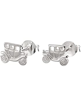SL-Collection Ohrringe Kinderohrringe Auto Oldtimer 925 Silber
