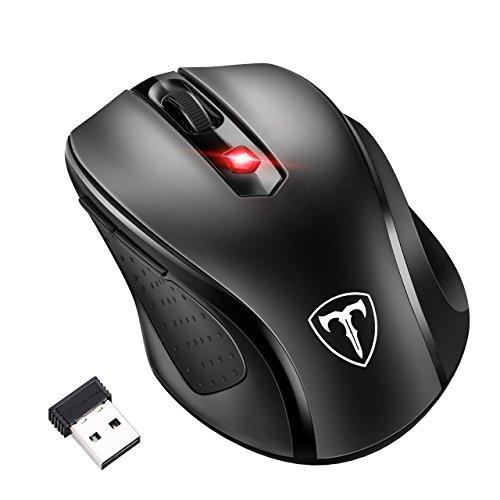 [Versión Actualizada]TopElek Ratón Inalámbrico 2.4G USB óptico PC portátil con ratón del ordenador receptor nano 6 botones de DPI 5 de ajuste para Windows Mac Macbook Linux - Super Ahorro de Energía