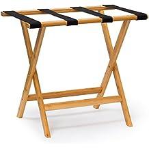 Relaxdays - Estante para equipaje con 4 correas, Medidas: 50 x 60 x 37.5 cm, 1.7 Kg, Bambú