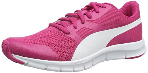 Puma Flexracer, Baskets Basses Mixte Enfant, Beetroot Purple White 02