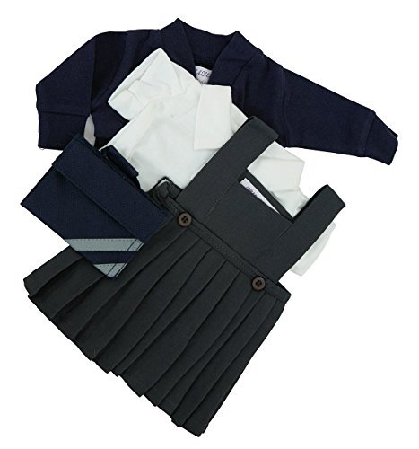 school-uniform-for-cabbage-patch-kid-14-17-inch-doll-not-includedgrey-pinafore-white-blousenavy-card