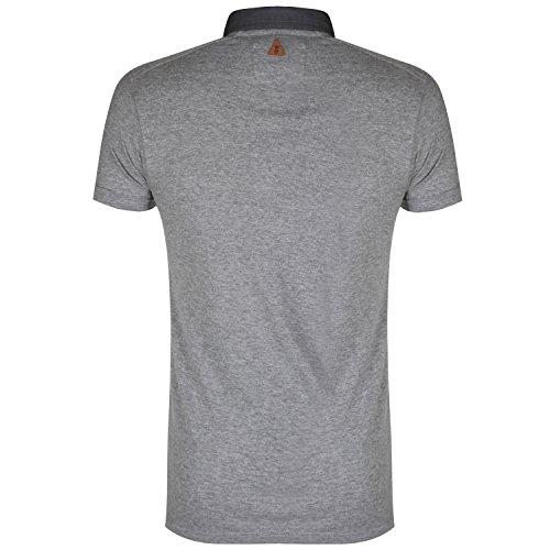 Soul Star Herren Kurzärmeliges Poloshirt; Grau - Grau
