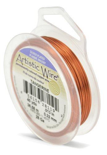 Artistic Wire Beadalon 40 914 28 g Câble plaqué argent, Mandarine