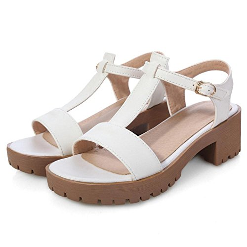 JOJONUNU Femmes Salomes Sandales white