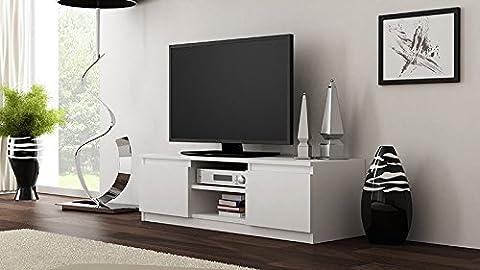 Galdem GATVWS TV Lowboard, Holz, weiß, 120 x 36 x 40 cm