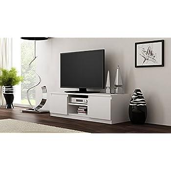 tv m bel st nder schrank mambo 140 cm korpus matt wei front hochglanz grau k che. Black Bedroom Furniture Sets. Home Design Ideas