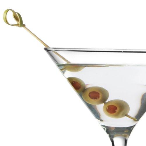 Bambus Knoten Picks 11 cm, 100 Stück / Cocktail Plektren, Food Plektren - Oliven-cocktail-picks