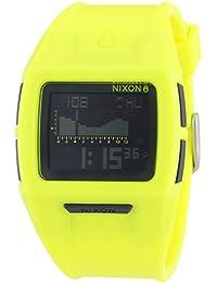 Nixon Lodown II Neon Yellow - Reloj de cuarzo para hombre, correa de plástico color amarillo