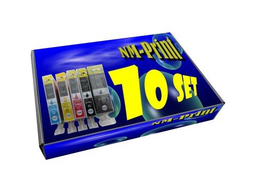10 Druckerpatronen kompatibel zu 2 x PGI-525BK 2 x CLI-526BK 2 x CLI-526C 2 x CLI526M 2 x CLI-526Y