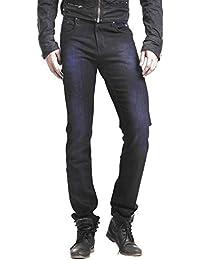 Seasons Navy Blue Cotton Slim Fit Basics Jeans For Men