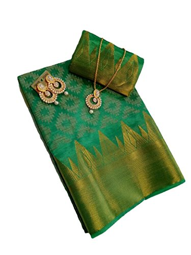 Shree Rajlaxmi Sarees Women's Woven Multi Colour Zari Silk Saree With Blouse...