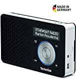 TechniSat Digitradio 1 Digital-Radio Made in Germany (klein, tragbar, mit Lautsprecher, DAB+, UKW, Favoritenspeicher, OLED-Display) schwarz/silber