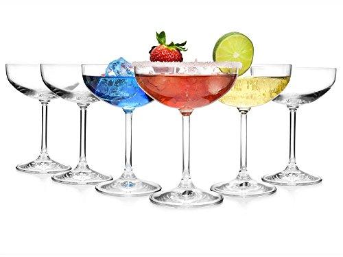 Bluespoon Champagnerschalen aus Glas 6er Set | Füllmenge der Sektschalen 150 ml | Retro Sektgläser für stilvolle Anlässe | Champagnergläser Vintage