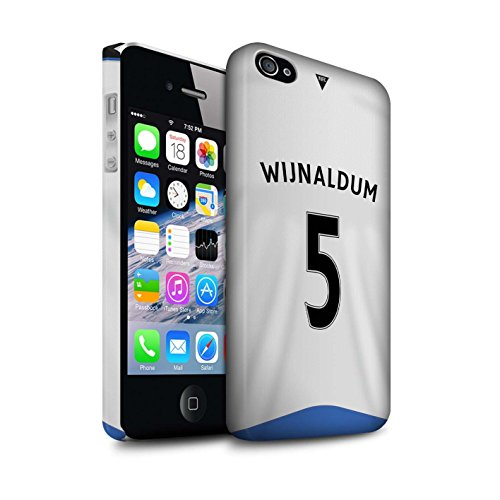 Offiziell Newcastle United FC Hülle / Matte Snap-On Case für Apple iPhone 4/4S / Tioté Muster / NUFC Trikot Home 15/16 Kollektion Wijnaldum