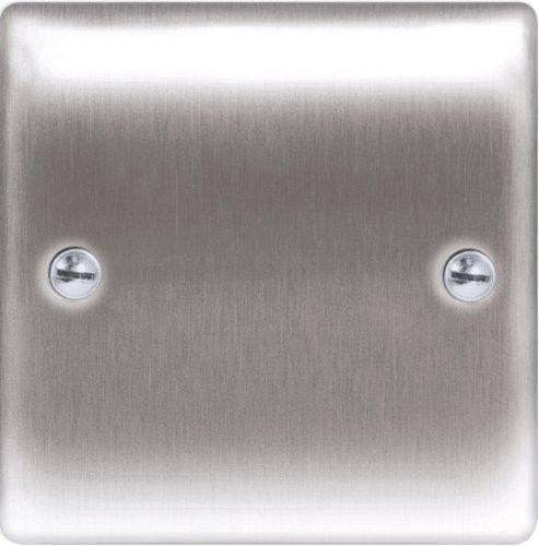 masterplug-nbs94-1-gang-metal-brushed-steel-blank-plate