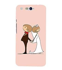 PrintVisa Just Married Marriage 3D Hard Polycarbonate Designer Back Case Cover for InFocus M812
