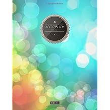 """TULPE Blanko Notizbuch A4 """"C002 City Lights"""" (140+ Seiten, Vintage Softcover, Seitenzahlen, Register, Weißes Papier - Dickes Notizheft, Skizzenbuch, Zeichenbuch, Blankobuch, Sketchbook)"""