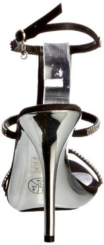 Unze Evening Sandals, Damen Sandalen Schwarz (L18856W)