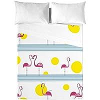 David Delfin Pink Family - Juego de sábanas, 270 x 210 cm