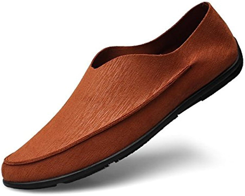 Xiazhi-scarpe, Mens Minimalismo treibende Loafer pieno pieno pieno Coloreeee tono barca mokassins, Marroneee, 44 eu | Lo stile più nuovo  b0b05c
