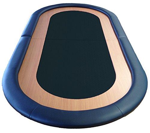 zusammenklappbar Poker Tisch Top geeignet Speed Oberfläche Leder Rest 8Spieler schwarz