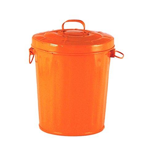 Orange Emaille Mini Trash kann