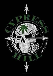 Cypress Hill - Vintage Skull - Posterflagge 100% Polyester - 75x110 cm
