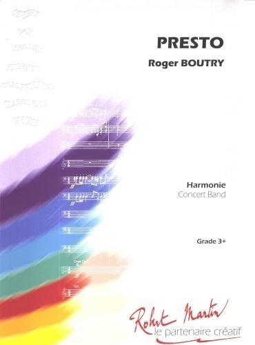 PARTITIONS CLASSIQUE ROBERT MARTIN BOUTRY R    PRESTO A LA MANIERE DE    ENSEMBLE VENTS