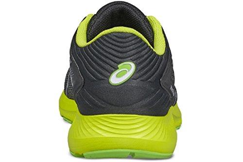 Asics Nitrofuze, Chaussures de Running Homme Grau (Dark Grey/silver/rose Neon Lime)