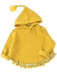 hibote Jerseys para niños Bebé niños y niñas Cute Tassel Puentes de punto