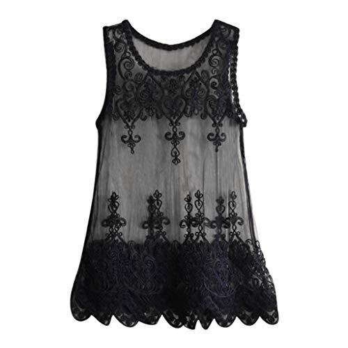 QingJiu Damen Bluse Kragen Fledermaus Ärmel Hemd Bikini Badeanzug Cover Up Lose Tops (One Size, Schwarz)
