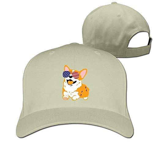 Wfispiy Baseballmützen Amerikanische Sonnenbrille Papa Hut Erwachsene Vintage Snapbacks Cap RF6349