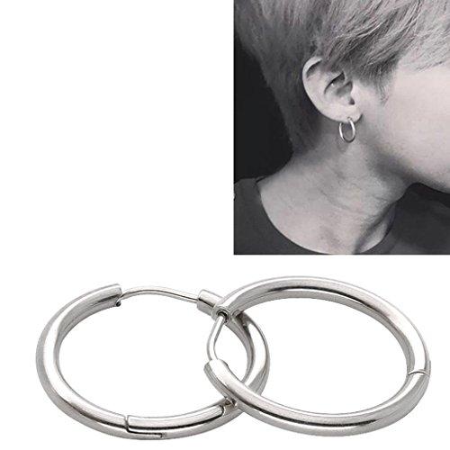 godere del prezzo più basso modelli alla moda qualità e quantità assicurate 3 paia di orecchini a cerchio in acciaio inox per uomo e donna, 18 g, 12  mm, per orecchio, piercing al naso, alle labbra, tunnel, trago, helix