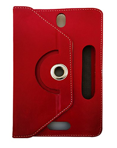 Fastway Rotating 360° Leather Flip Case For Huawei Honor T1 7.0-Red  available at amazon for Rs.249