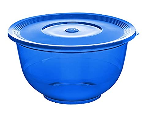 Emsa 515519 Superline salad bowl with lid, Ø 26 cm, 3.5 litres Ocean