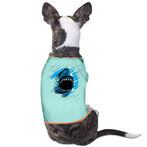 Jiaojiaozhe Shark Moon Lines Pet Service Pet Clothing Funny Dog Cat Costume Tshirt Sky - Girl On The Moon Kostüm