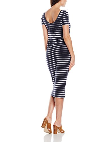 ONLY Damen Kleid 15112079, Maxi, Gestreift Mehrfarbig (Night Sky Stripes:Night SKY AND White)