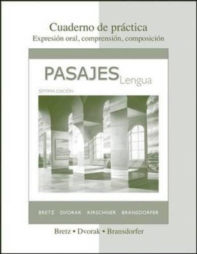 Cuaderno de práctica to accompany Pasajes