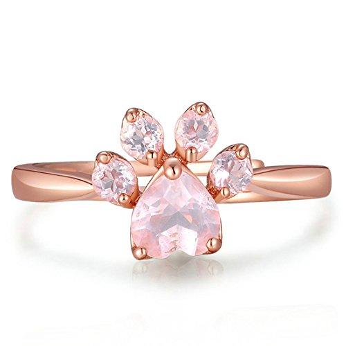 Rose Kristall Ring Cat Ring Für Katzenliebhaber Frauen Mädchen ()