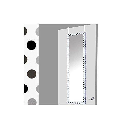 Espejo-para-puerta-blanco-con-lunares-grisnegro-37x2x128