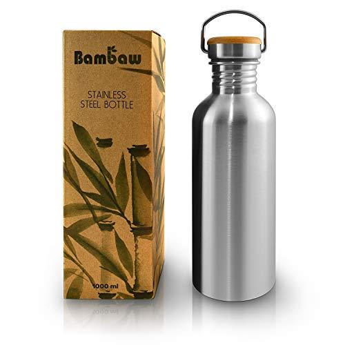 Bottiglia 1l | Borraccia acciaio inox | Borraccia senza plastica | Borraccia ecologica | Borraccia senza BPA | Bottiglia riutilizzabile | Borraccia da campeggio | Bambaw