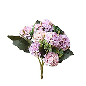 Pigupup 1 Ramo 10 Cabeza de la Bola Artificial jardín de la Oficina la Flor del crisantemo Mesa de Comedor Flor Falsa White Purple Pink