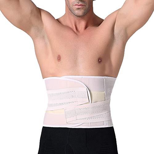 TYX HOME Rückenstützgürtel - Hilft Frauen und Männern, Rückenschmerzen, Ischias, Skoliose, Bandscheibenvorfall oder degenerative Bandscheibenerkrankung zu lindern,White,S