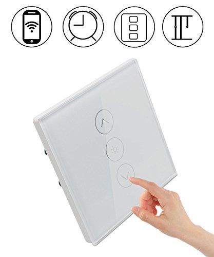 Aappy Light Dimmer Schalter Smart Wi-Fi Remote Timer Wandschalter Dimmer Touch Panel Arbeiten mit Amazon Alexa, Echo und Google Assistant Support Multiplayer für Smart Home