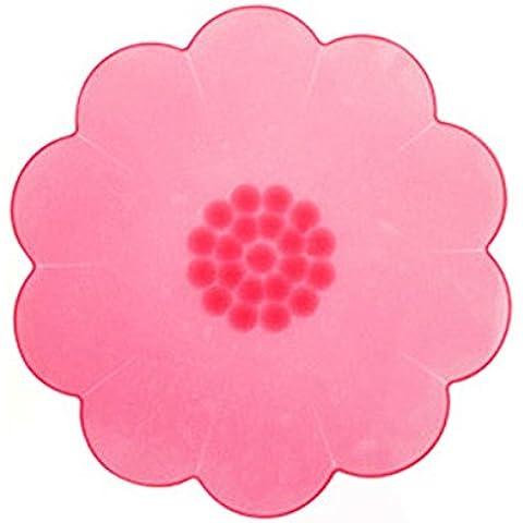 OUMOSI 2PCS/LOT silicone Saran Wrap Pellicola ciotola Guarnizione per Stretch Coperchi frigorifero per cibo, utensili da cucina Rose
