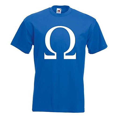 KIWISTAR - Omega Symbol T-Shirt in 15 verschiedenen Farben - Herren Funshirt bedruckt Design Sprüche Spruch Motive Oberteil Baumwolle Print Größe S M L XL XXL Royal