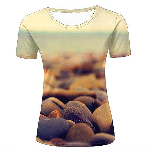 qianyi maoyi Womens 3D Printed Casual T-Shirts Retro Cobblestone Goose Soft Stone Graphics Crewneck Short Sleeve Fashion Couple Tees XS