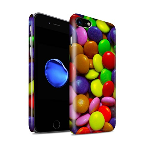STUFF4 Glanz Snap-On Hülle / Case für Apple iPhone 8 / Smarties Muster / Bonbons/Süßigkeiten Kollektion Smarties
