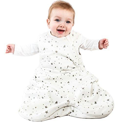 Woolino Baby-Schlaf Tasche 4 Jahreszeiten grundlegende Merino Wolle Baby-Schlafsack 18-36 Monate Sterne